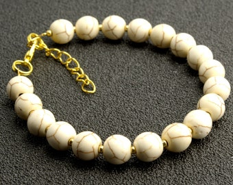 White Howlite 8mm