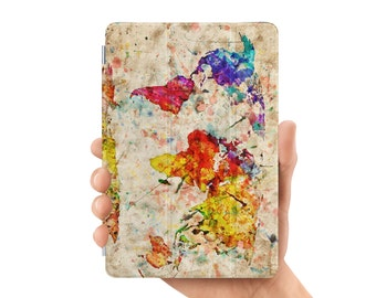 ipad case smart case cover for ipad mini air 1 2 3 4 5 6 pro 9.7 12.9 retina display retro watercolor world map