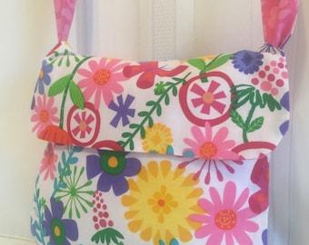 Reversible Small Floral Messenger Bag