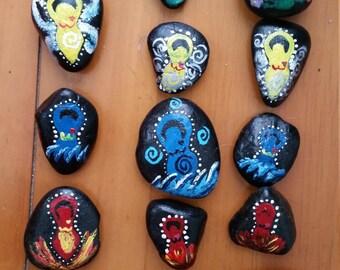 Elemental River Rocks (4 in a set)