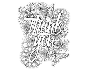 """Paper House Die-cut Coloring Cards - W/5.25""""X7.25"""" Envelope - Thank You/Cat/Puppy/You're Awesome"""