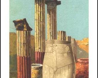 "Set of 10 Postcards: ""Italian Urn"""