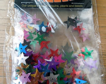 Sequins: assorted colured stars
