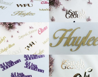 Custom Confetti, Confetti, Custom Name Confetti, Name Confetti, Party Supplies, Gold Confetti, Gold, Glitter, Table Confetti