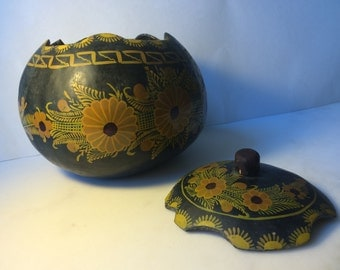 Hand-painted decorative gourd