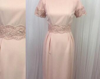 Vintage 90's - Donna Morgan Pink Dress - wedding - brides's maid-