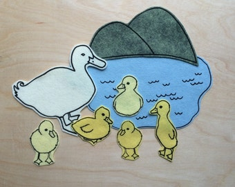 Felt Board Story 5 Little Ducks- Flannel Board Story 5 Little Ducks