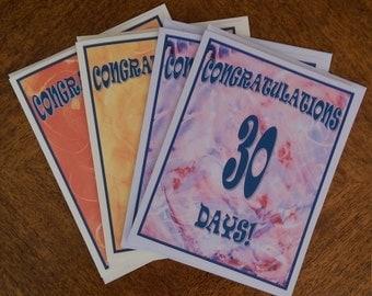 12 Step Cards, Sobriety Cards, Recovery Birthday Cards, Recovery Anniversary Cards, Sobriety Anniversary, Sober Birthday, Daily Milestone
