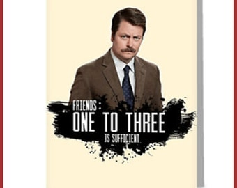 Ron Swanson Birthday Card A6 greeting card inspired by
