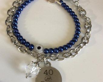 40 & Fabulous Bracelet Evil eye combo Bead Bracelet