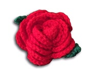 Woven rose - handmade crochet brooch/hair pin. Rockabilly, retro, vintage, pin up style.