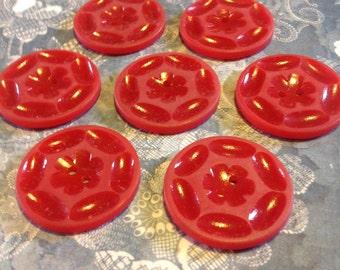 1940s American casein vintage buttons flower design