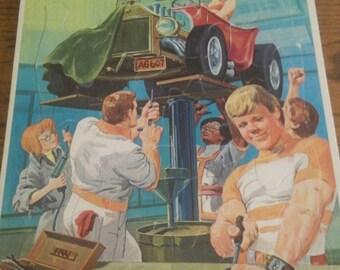 """Vintage Whitman """"Hotwheels Tv Show"""" Puzzle"""