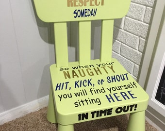 Kids Green Time Out Chair