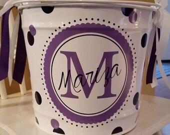 10 Quart Personalized Bucket / Easter Basket / Gift Basket / Beverage Bucket