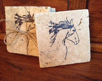 Coasters, Coffee Mug Holder, Horse Coaster, Coffee Coasters, Coaster Set, Housewarming Gift, New Home Gift, Horse Coasters, Horse Gift Ideas
