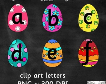 50% OFF Easter Egg Alphabet Clipart - 26 images Scrapbooking / Personal / Commercial Use