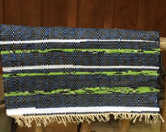 Hand loomed Seahawks rug