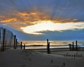 Sunrise photo, OBX,  East Coast, Beach Photo,  Sand dunes, Nature Photography, Landscape