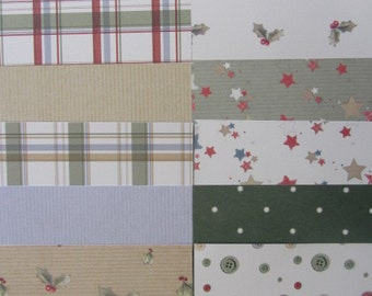 """12 x Forever Friends Kraft Notes Christmas 6""""x 6"""" Papers"""