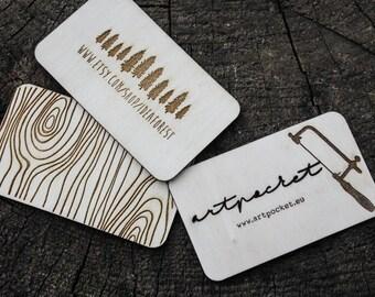 wooden business card, laser cut business card, wood business card, rustic business card, personalized business card, custom wood card