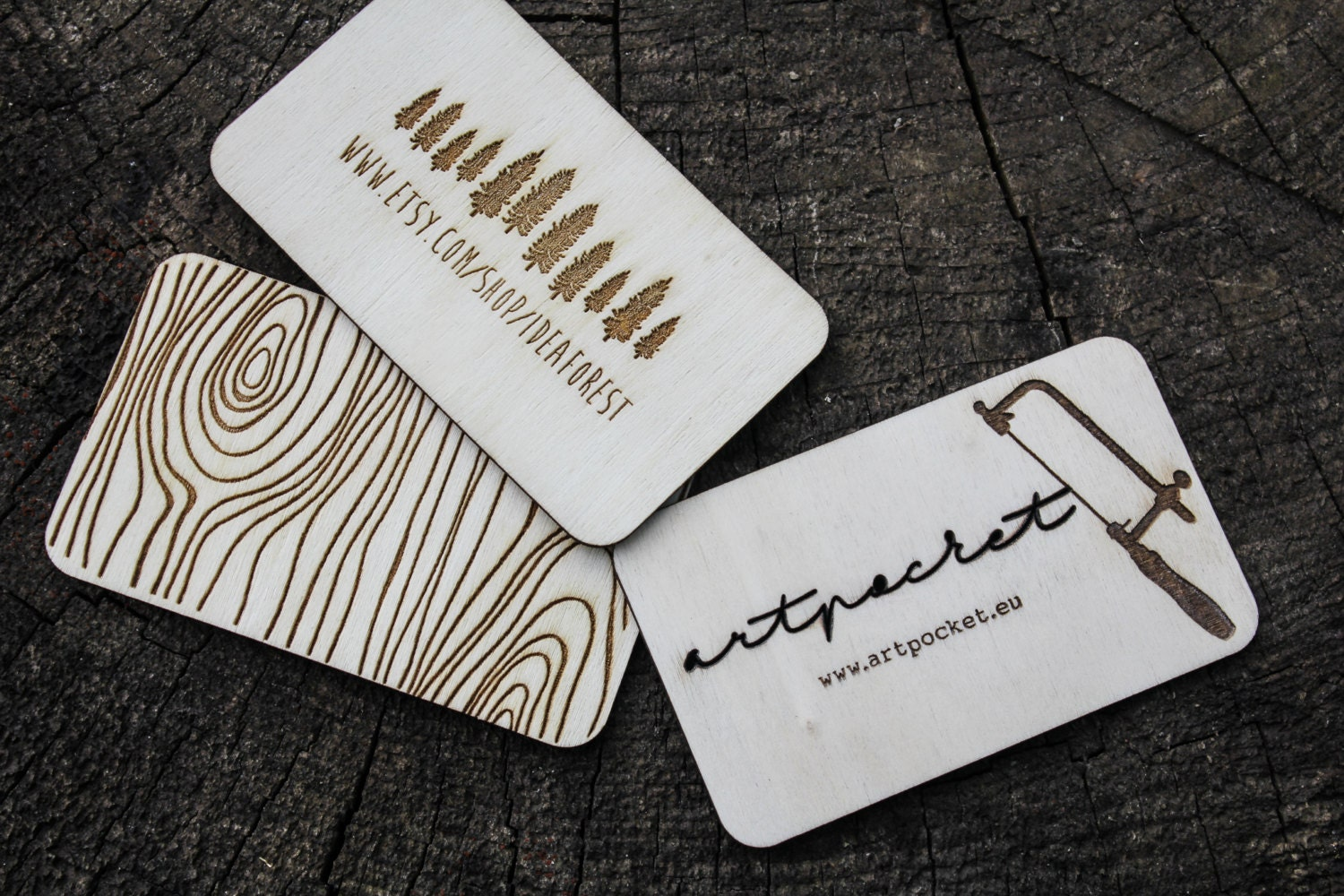 wooden business card laser cut business card wood business