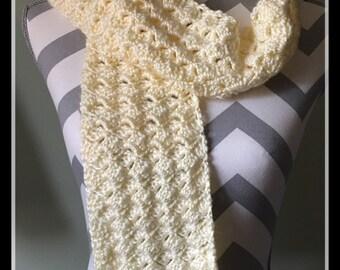 Spring Petals Crochet Scarf Handmade Womans Scarf