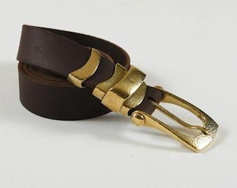 Handmade belt with forged brass  : 1MSKD