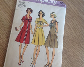 1970s simplicity sewing pattern size 18 and 20