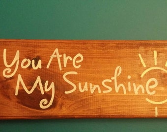 You are my sunshine hanging rack