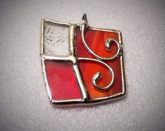 The handmade stained glass pendant