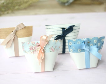 6 Mini gift boxes. mini favor boxes, small floral boxes, stripe boxes, cute small boxes, extra small boxes, favor boxes,wedding favor box