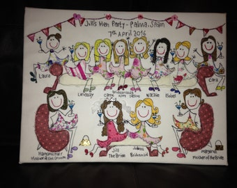 Personalised Hen night embroidery