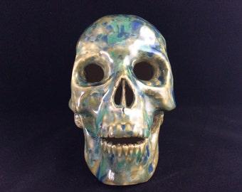 Ceramic Skull - Funtasia Glaze