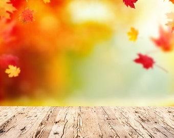 Autumn maple leaf Photography Background Newborns photo Backdrop, Autumn fallen leaves Photo Drop for Kids,Child D-3770