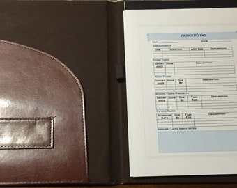 Organizational Padfolio wtih Designed To Do List Sheets