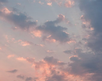 Cotton candy sky - Pastel cloud overlay