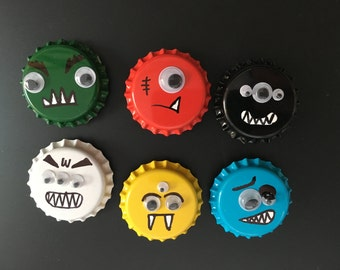 Monster Magnets; Fun Colorful Magnets