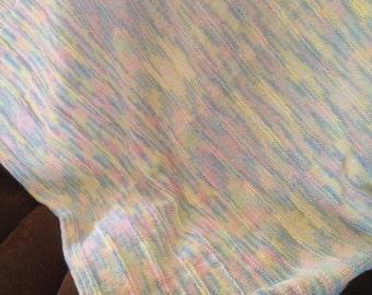 Handmade Pastel Baby Blanket