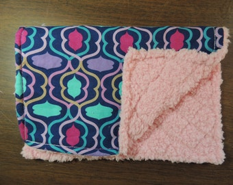 Chenille and Cotton Burp Cloths and Bibs