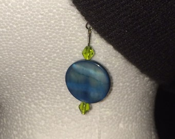 Blue and Green Earrings