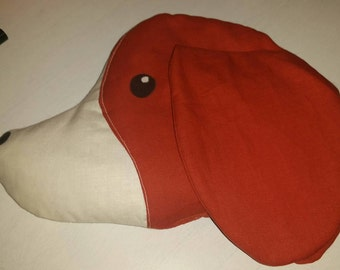 Cherry pit pillow beagle dog