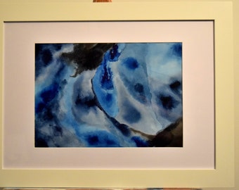 """Original framed abstract watercolour painting on paper """"Aerial."""""""