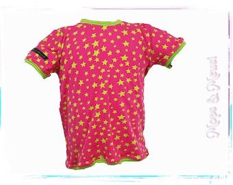 T-shirt 98 pink green star