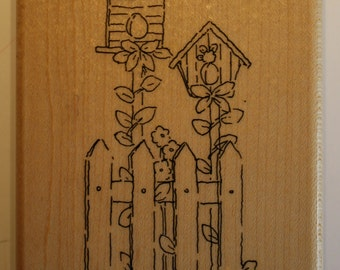 Birdhouse Garden stamp by CTMH