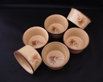 REDUCED Set of Six Denby Ramekins. Memories pattern, discontinued item ,Replacement china