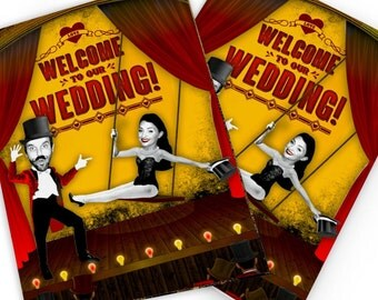 Moulin Rouge Themed Day Wedding Invites