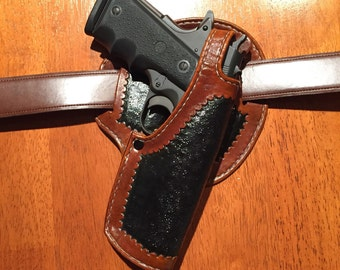 Semi-Drop-Leg Leather 1911 Holster