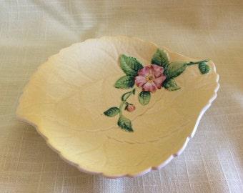 Vintage Art Deco Carlton Ware tea bag dish ceramic flower Australian design