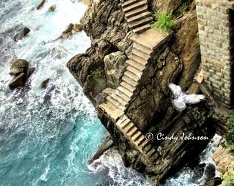 Steps to the Sea, Riomaggiore, Cinque Terre, Italy
